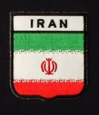 IRAN IRANIAN NATIONAL COUNTRY FLAG BADGE IRON SEW ON PATCH CREST SHIELD