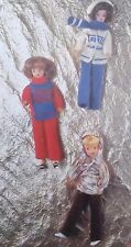Vintage knitting pattern barbie/sindy jouet poupées vêtements pantalon pull W1756