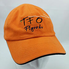 TFO Fly Rods Orange Baseball Hat Cap Adjustable Temple Fork Outfitters
