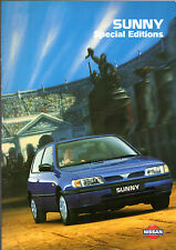 Nissan Sunny Preview & Sequel Limited Edition 1995 UK Market Sales Brochure