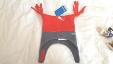 NWT  Columbia Boy's Infant pigtail Hat NEW  Red/Grey