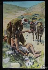 Glass Magic Lantern Slide THE GOOD SAMARITAN C1910 CHRISTIAN RELIGION