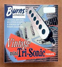 NEW Burns of London MINI TRI-SONIC PICKUP SET Chrome
