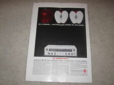 Kenwood KW-60 Tube Receiver Ad, Color, Specs, Article, Beautiful!
