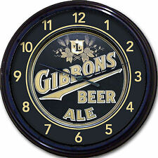 Gibbons Beer Wilkes-Barre PA Tray Wall Clock Ale Lager Brew Alcohol New 10""