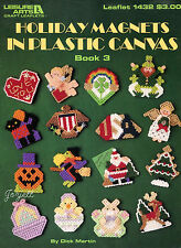 Holiday Magnets Book 3 ~ Fridgies Appliques Motifs plastic canvas patterns OOP
