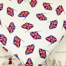 FQ - Union Jack Flag Cotton Fabric Quilting Patchwork Bunting Crafts VA10 Waving