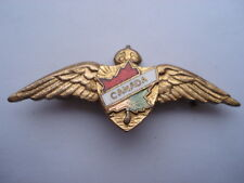 C1930S VINTAGE CANADIAN AIR FORCE ENAMEL SWEETHEARTS PIN BROOCH