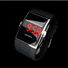 Luxury Men's Fashion LED Digital Date Sports Quartz Waterproof Wrist Watch Black