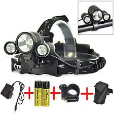 13000lm XM-L T6 LED MTB Bici Luce Lampada frontale faro torcia 2X 18650+Caricaba