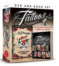 TATTOOS DVD & BOOK GIFT SET - ED HARDY DVD & LITTLE BOOK OF TATTOOS