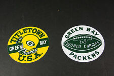 """GREEN BAY PACKERS Vintage 1968 CHAMPIONSHIP Reproduction Decals Stickers 5"""" Dia"""