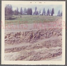 Unusual Vintage Color Photo Layers of Earth & Sky 714649