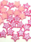NEW 100pcs 12MM Pentagon stars Flower Resin Scrapbook Craft Flatback DIY Rose&