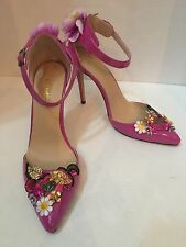 Women's LOSLANDIFEN Pink Stiletto Flower Floral Heels Shoes Size EU 42 US 11.5