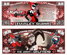 Harley Quinn Million Dollar Collectible Funny Money Novelty Note