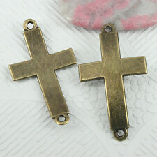 20pcs antiqued bronze color curved cross connector findings EF0782