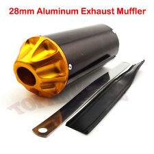 28mm Aluminum Exhaust Muffler For 50cc 70 90 110 125cc Pit Dirt Trail Motor Bike