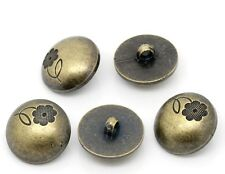 10 Pcs Resin Sewing Shank Buttons Scrapbooking Round Antique Bronze (71)