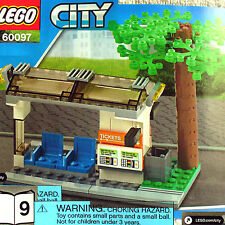 Lego Tram Station Bus Stop w Tree (City Square Train 60097 B9) *New*