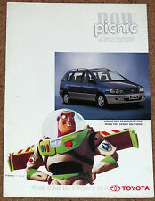 1996 TOYOTA PICNIC UK Launch Preview Sales Brochure in association w/TOY STORY