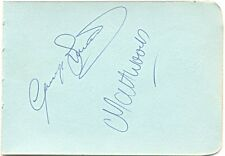 Altrincham F.C. Matt Woods & George Smith signed autograph album page 1960s