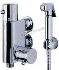Thermostatic Douche Shattaf Kit Bidet Toilet Valve + Solid C/P Shower Muslim Set