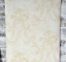 York Wallcoverings Victorian Vintage Floral Damask Tan Cream Chic Wallpaper Diy