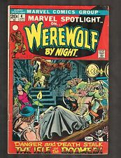 """Marvel Spotlight #4 ~ """"Island of the Damned"""" / Warewolf by Night ~1972 (3.5) WH"""