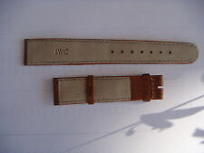 IWC ORIGINAL UNISEX 18 MM WATCH STRAPS IN BROWN LEATHER NEW