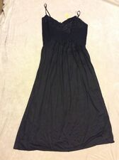 Sexy Nightgown St Michael Black Stretch Lace Long Uk 18 Lingerie Nwt