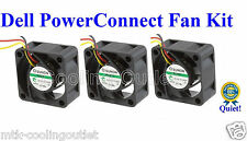 Quiet! Dell PowerConnect 5448 Fan Kit, 3x New Sunon MagLev Fans 18dBA Noise each