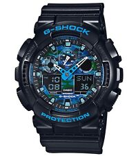 Casio G Shock * GA100CB-1A Camo Blue Face Black Gshock Ivanandsophia COD PayPal