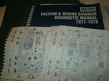 1977 1978 CHRYSLER NEWPORT NEW YORKER DODGE ROYAL MONACO WIRING VACUUM SHEETS