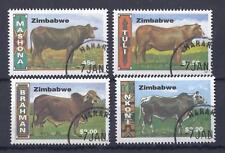 ZIMBABWE, 1997, CATTLE BREEDS, SG 938-41, FINE USED SET