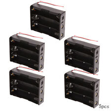 5x Plastic Battery Storage Case Box Holder Triple 3 x18650 3.7V With Wire,New