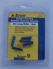 22 Rimfire Dummy Ammo - 6 PACK .22 Long Rifle - A-ZOOM Aluminum Practice Rounds