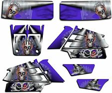 YAMAHA BANSHEE GRAPHICS WRAP DECAL STICKER KIT TURBO CHARGED BLUE