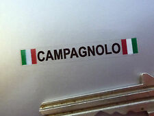 CAMPAGNOLO Text & Tricolore Wheel Stickers Set of 4 40mm Ferrari Alfa Maserati