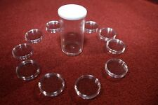 50 CLEAR PLASTIC COIN CAPSULES 27 MM SIZED IN 5 PLASTIC TUBES