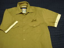 24 Heures Du Mans New Monogrammed Emblem Khaki Cotton Urban Short Sleeve Shirt