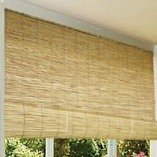 "Bamboo Patio Blinds Outdoor Balcony Deck 72"" Roll-Up Wood Reed Roller Sun Shades"