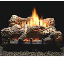 "Flint Hill Vent Free Gas Logs - 18"" with on/off remote control"