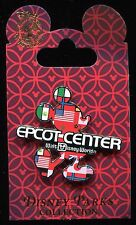 2016 EPCOT Center Mickey Silhouette Icon with Flags Disney Pin