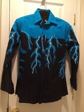 Brooks & Dunn  panhandle slim Western Flames  Shirt SZ MEDIUM