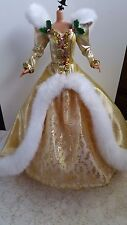 1994 Barbie doll Gold and white dress evening gown Special edition