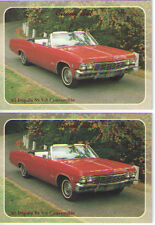 1965 Chevy Impala SS Convertible BaseballCard Sized Cards - lot of 2 - Must See!