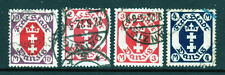 Danzig SC# 83, 85, 87a & 88 Postal Used (4) stamps from set Issued in 1922/