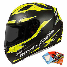 MT Mugello Vapour / Leopard Motorcycle Motorbike Helmet Crash Matt Black White