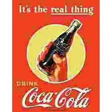 Coca Cola It's The Real Thing Tin Sign Reproduction